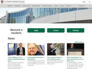 St. Thomas More College's Website Screenshot