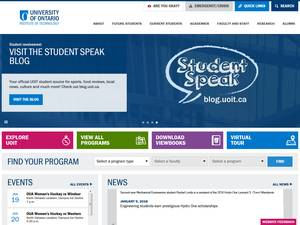 University of Ontario Institute of Technology's Website Screenshot