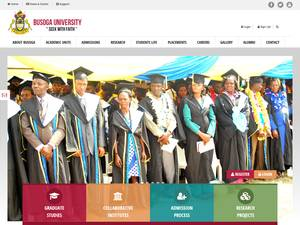 Busoga University's Website Screenshot