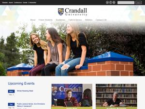 Crandall University's Website Screenshot
