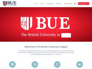 The British University in Egypt's Website Screenshot