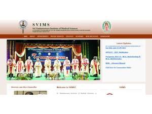 Sri Venkateswara Institute of Medical Sciences's Website Screenshot