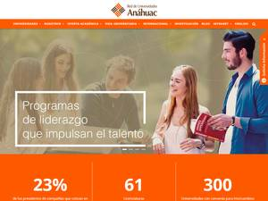 Anahuac University of North Mexico Screenshot
