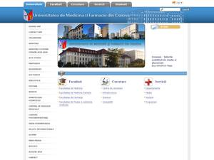 Universitatea de Medicina si Farmacie din Craiova's Website Screenshot