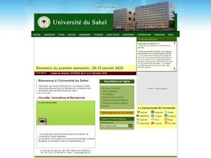 Université du Sahel's Website Screenshot