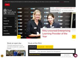Royal Agricultural University's Website Screenshot