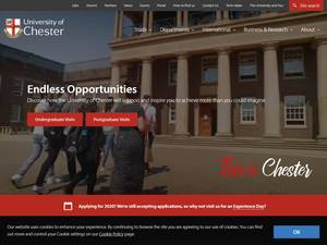 University of Chester's Website Screenshot