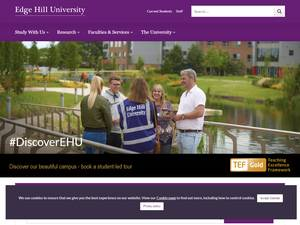 Edge Hill University's Website Screenshot