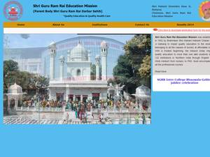 Shri Guru Ram Rai Education Mission's Website Screenshot