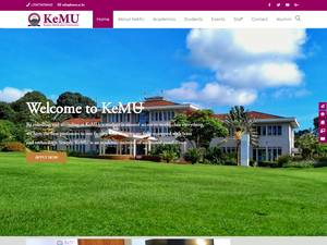 Kenya Methodist University's Website Screenshot