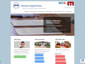 Adventista Teológiai Fõiskola's Website Screenshot