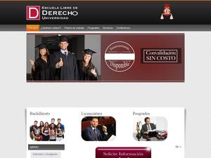 Universidad Escuela Libre de Derecho's Website Screenshot