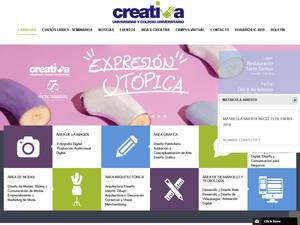 Universidad Creativa's Website Screenshot