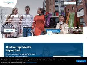Driestar Hogeschool's Website Screenshot