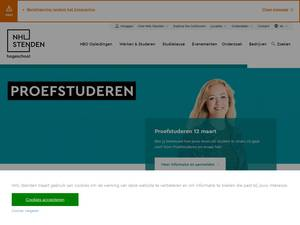 NHL Stenden Hogeschool's Website Screenshot