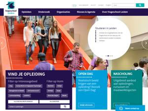 Hogeschool Leiden's Website Screenshot