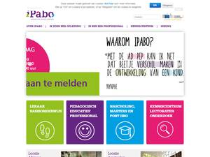 Hogeschool iPABO's Website Screenshot