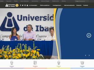Universidad de Ibagué's Website Screenshot